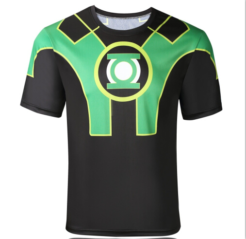 The new 2016 marvel comics superhero captain America spider-man superman batman iron man short sleeve T-shirt