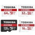 TOSHIBA 32 GB карта micro sd class 10 TF карта памяти 16 ГБ SDHC 64 ГБ 128 ГБ SDXC UHS-1 U3 633X90 МБ/S MicroSD Флеш адаптер
