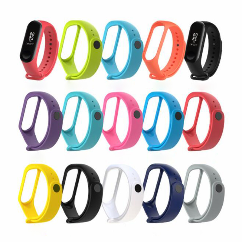 Mi Band 4 3 Strap Replacement Silicone Wrist Strap For Xiaomi Miband 3 4 Smart Bracelet Accessories