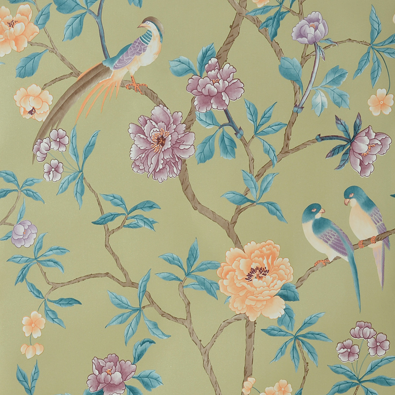 Modern Chinese Style Tree Mural Wallpapers Rustic Wallpaper 3D Flower Birds Wall Paper Living Room Floral Peony Roll