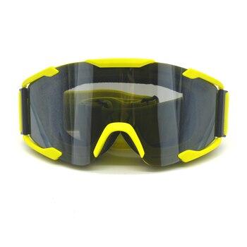 Evomosa Motocross casco Goggle ATV Dirt Pit Bike Off Road Racing máscara a prueba de viento ciclismo caza gafas de seguridad gafas