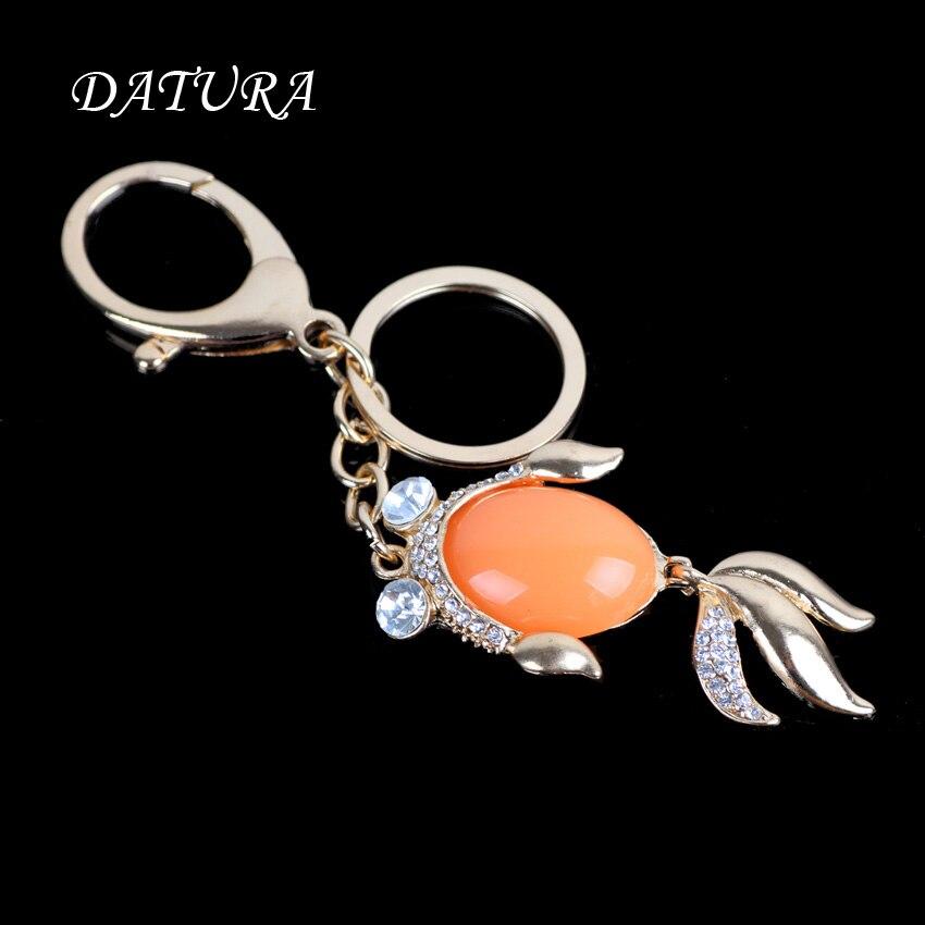2 colors Fashion rhinestone cut fish pendant quality chic Car key chain font b ring b