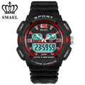 SMAEL Army Military Wristwatch Men's Sport Waterproof Digital Quartz Dual Display Watches with  Gift Box montre homme WS1378