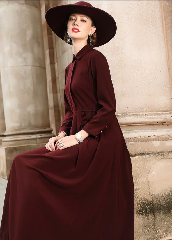 2018 nouveau Mode de luxe annonce Robe de solide composite dentelle ajourée dans la section de Un mot Femmes Casual robe livraison DHL