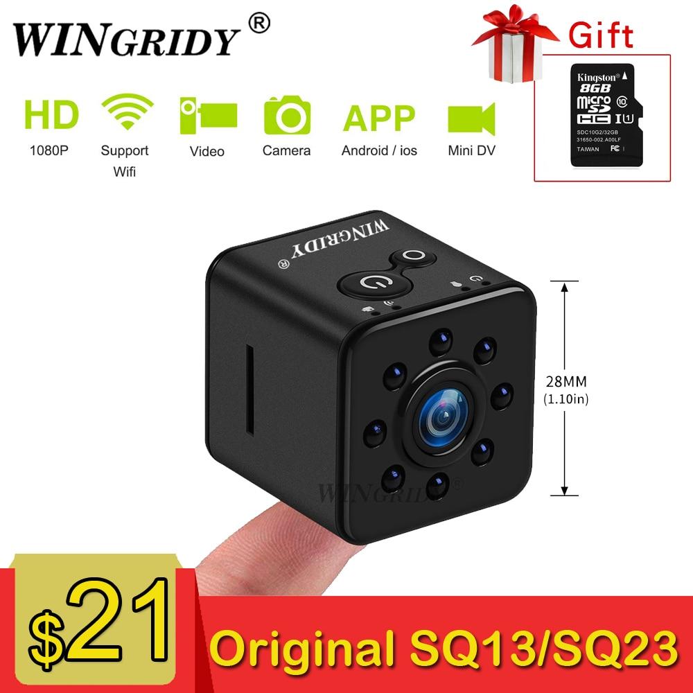 SQ23 SQ13 Original Mini Camera WiFi Cam Full HD 1080P Sport DV Recorder 155 Night Vision Small Action Camera Camcorder DVR SQ 11