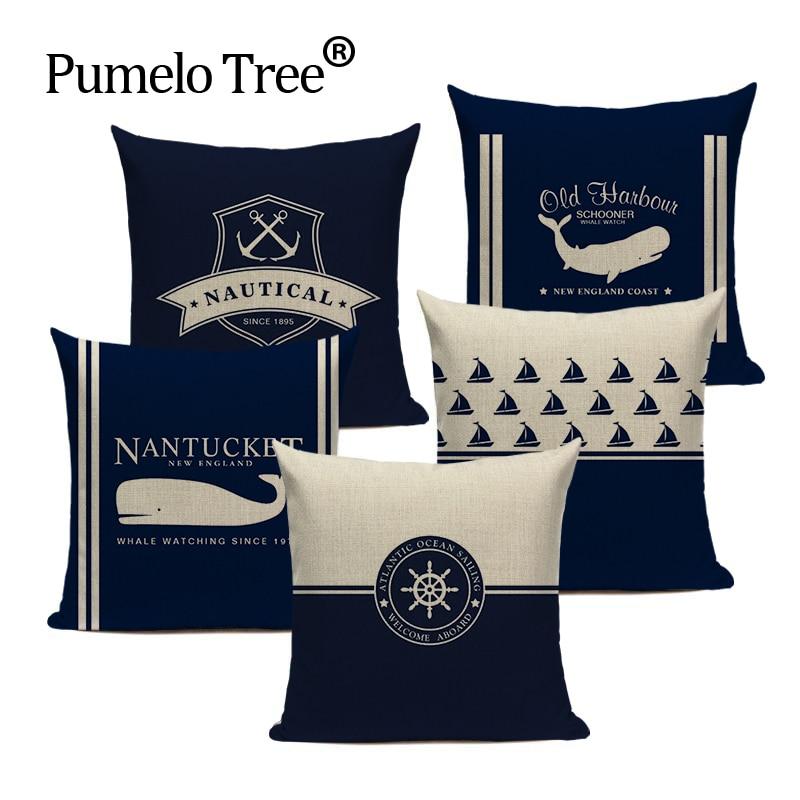 Vintage Decoration Cushion   Marine  Colorful Fish Spring Pillowcase Houseware  Sofa Car Home Decor  Pillow Case Custom Covers