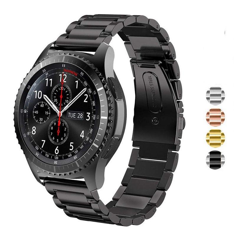 Stainless Steel Watch Band22mm20mm Strap For Samsung Gear S3 Classic Frontier Wrist Smart Watch Belt Link Bracelet Black Silve