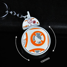 The Star Wars Force Awakens BB8 BB-8 Can Rotate Hang Pendant Action Figure Toys Keychain Key chain Key Chain Ring For Gife