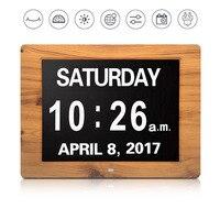 50PCS Alarm Day Clock Electronic Extra Large Digital Clock Non Abbreviated Date Display Seniors Memory Loss Elderly Dementia 8
