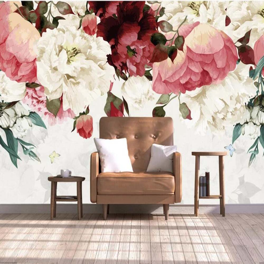 3d Flower Mural Hand Painting Floral View Wallpaper Murals Art