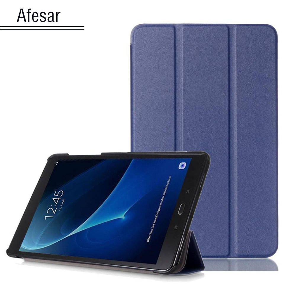 SM-T580 Tab A6 10.1 2016 Slim Smart Case Cover- For Samsung Galaxy Tab A 10.1 T585 T587 tablet book flip cover case magnet stand tab a6 10 1 360 degree rotating folio pu leather case flip cover for samsung galaxy tab a 6 10 1 t580 t585 10 1 tablet case