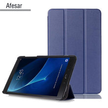 SM-T580 Tab A6 10.1 2016 Slim Smart Case Cover- For Samsung Galaxy Tab A 10.1 T585 T587 tablet book flip cover case magnet stand(China)