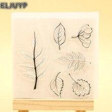 KLJUYP Leaf Clear Stamps Scrapbook Paper Craft Clear stamp scrapbooking 453
