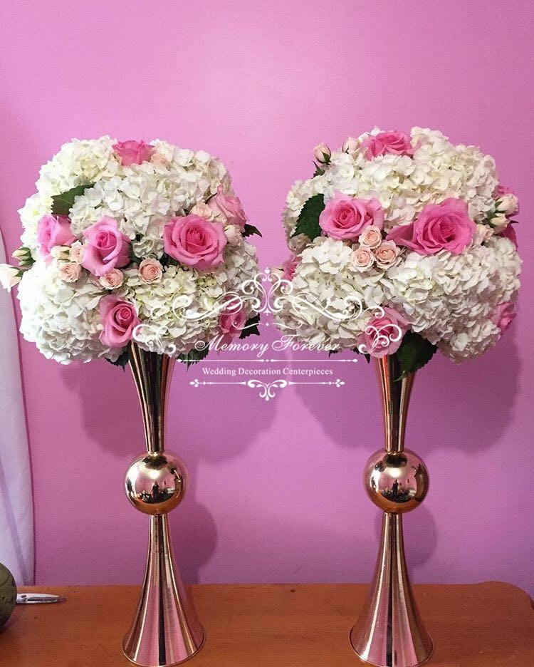 80cm Tall Wedding Flower Vase Metal Trumpet Vase For: 29 Inch Gold Reversible Trumpet Centerpiece Vase Wedding