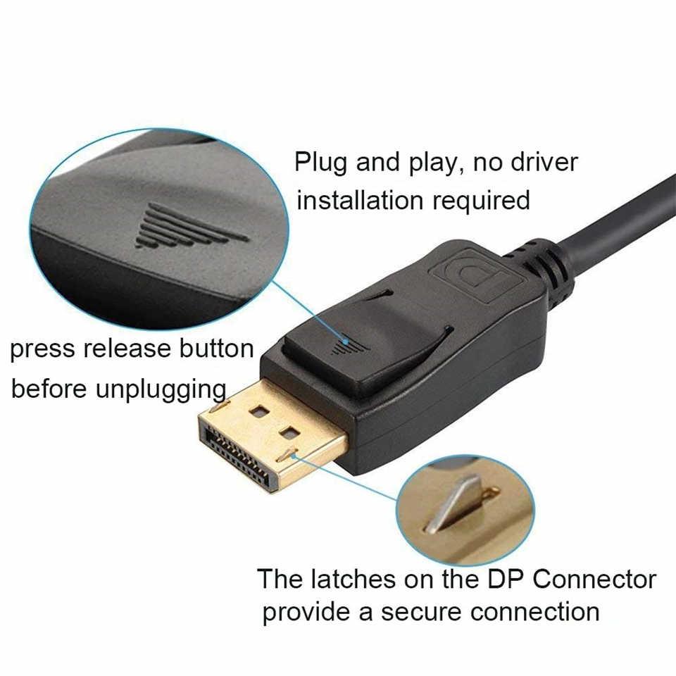 2020 mejor DisplayPort 1,4 Cable de vídeo de Audio DisplayPort 1,4 V DP 1,4 DP 1,4 Cable 4K 144Hz 8K DP 1,4 Cable para HDTV Projector