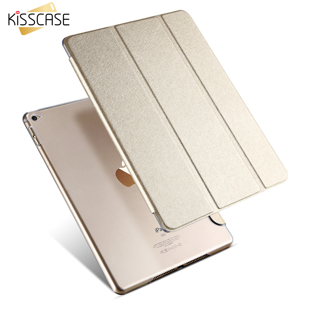KISSCASE Smart Sleep Leather Case For iPad Air 2 Stand Flip Ultra thin Transparent Clear Luxury Cover Cases For Apple iPad Air 2 for apple ipad air 2 pu leather case luxury silk pattern stand smart cover