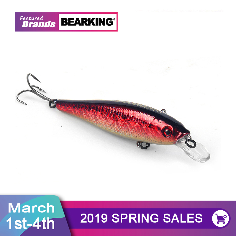 Bearking Wolfram kugeln lange casting 10 cm 17,5g Neue modell angeln lockt harten köder dive 1,8 m minnow, qualität professionelle minnow