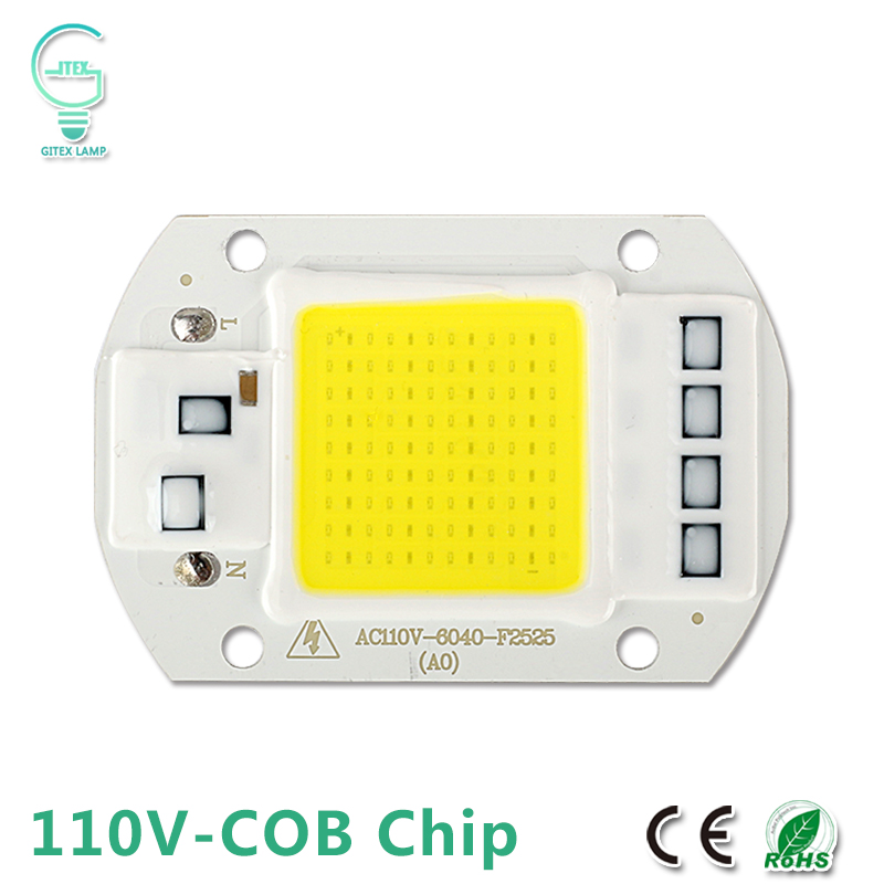 <font><b>110V</b></font> 127V <font><b>LED</b></font> Chip Bulb 20W 30W 50W <font><b>LED</b></font> <font><b>COB</b></font> Chip Lamp Input Smart IC Driver For DIY <font><b>LED</b></font> Floodlight Spotlight Cold Warm White image