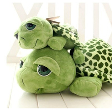 hot deal buy 20cm creative cute green big eyed turtle plush animals toys stuffed tortoise turtle plush toys birthday christmas toy gifts