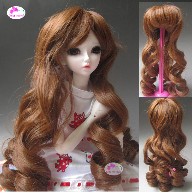 Black brown Roman curly hair wig for 1/3 1/4 1/6 BJD/SD doll Accessories new 1 3 bjd wig purple short shtaight hair doll diy for1 3 1 4 1 6 1 8 1 12 bjd sd dollfie