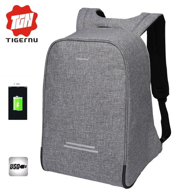 2017 Tigernu Anti-theft Design Men 15.6inch Laptop Backpack Women Backpack  Mochila School Bags 70114c1428fea