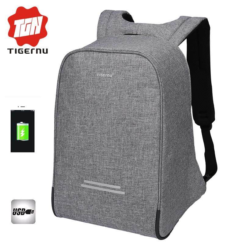 2017 Tigernu Anti-theft Design Men 15.6inch <font><b>Laptop</b></font> Backpack Women Backpack Mochila School Bags for teenagers Casual <font><b>Laptop</b></font> Bag