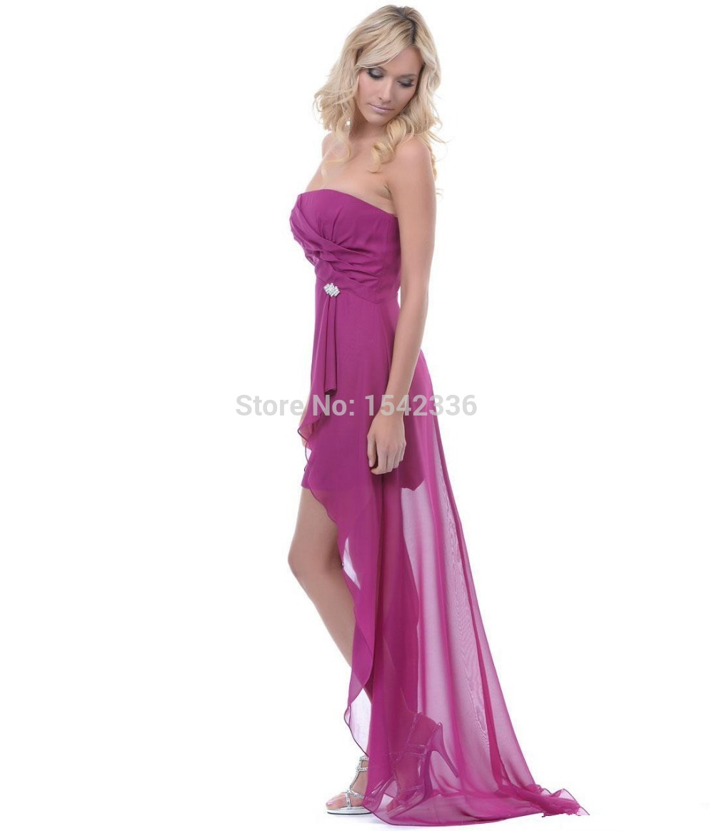 Omantic apresurado moda Vestido De Noiva Simple Magenta gasa ...