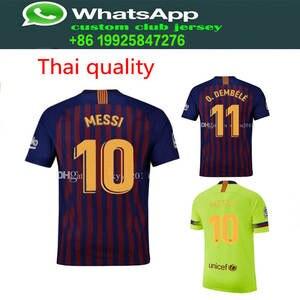 ae4cfe877 FEERIJT home soccer MESSI football shirt Barcelona jersey