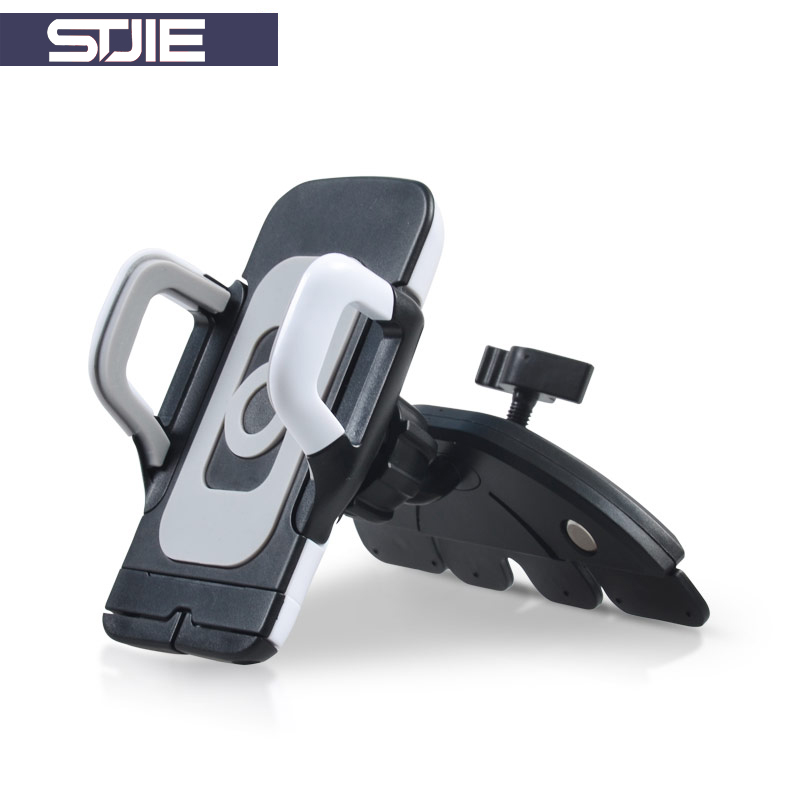 STJIE Phone Stand Car 360 Rotation Cell Phone Stand Cd Slot Universal Car Holder For Samsung Xiaomi Huawei iPhone Gps Holder