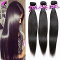 Human Hair Extensions Peruvian Virgin Hair Straight 3 Bundles Peruvian Straight Virgin Hair Straight Weave Natural Brown Wavy