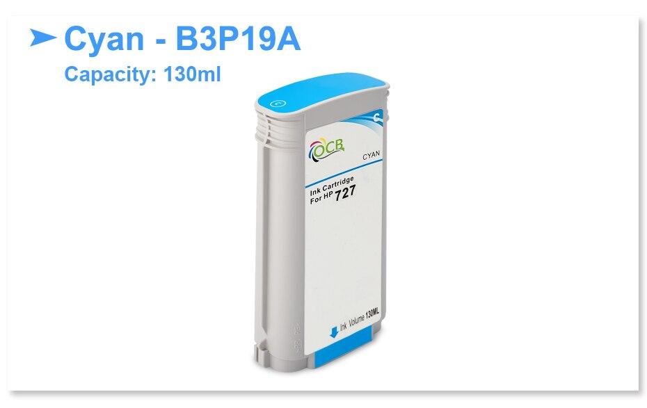Genuine HP B3P19A 727 Cyan Ink Cartridge 130ml Designjet T920 T1500 TEXP 2019