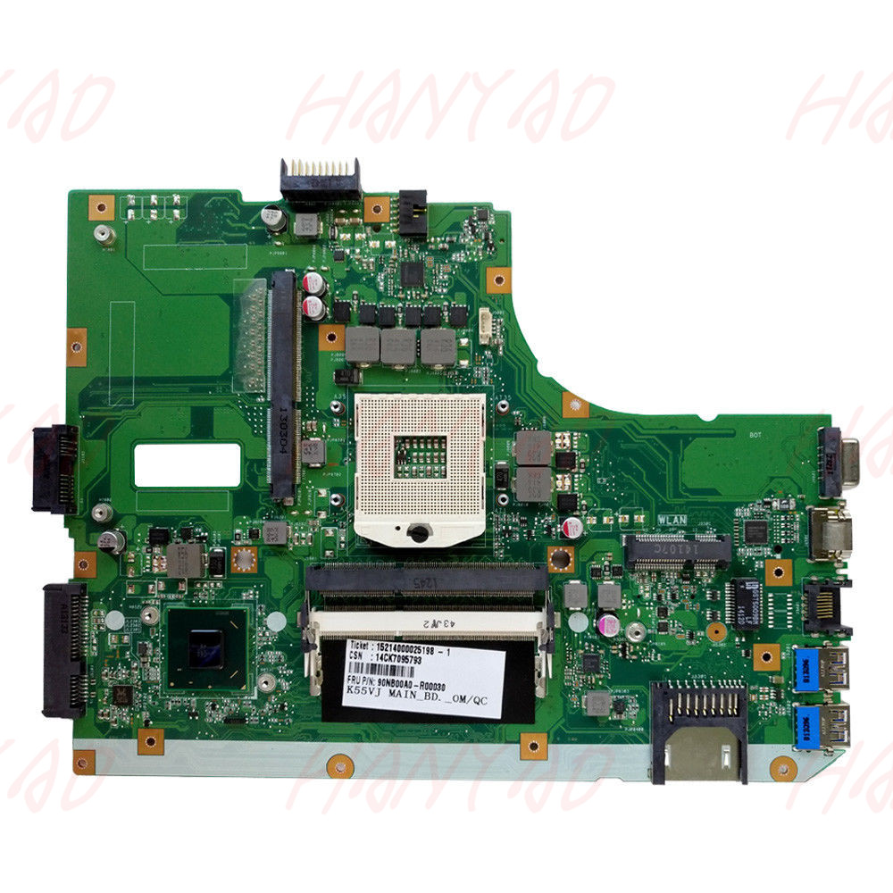 60NB00A0-MB2000 K55VM REV2.2 Asus K55VJ Laptop Anakart Ücretsiz Kargo % 100% test tamam