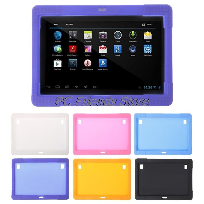 10.1 pouce En Silicone Cas Tablet Couverture pour Tab MTK8752 K107 S107 MTK6592 Tablet-PC Ami