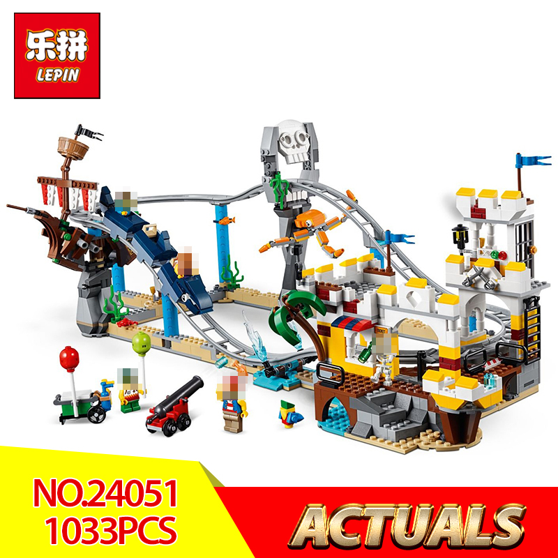 цена на 2018 Lepin 24051 Blocks Bricks Pirate Roller Coaster 3 in 1 Compatible legoing 31084 Building Educational Toys Model Boys Gifts