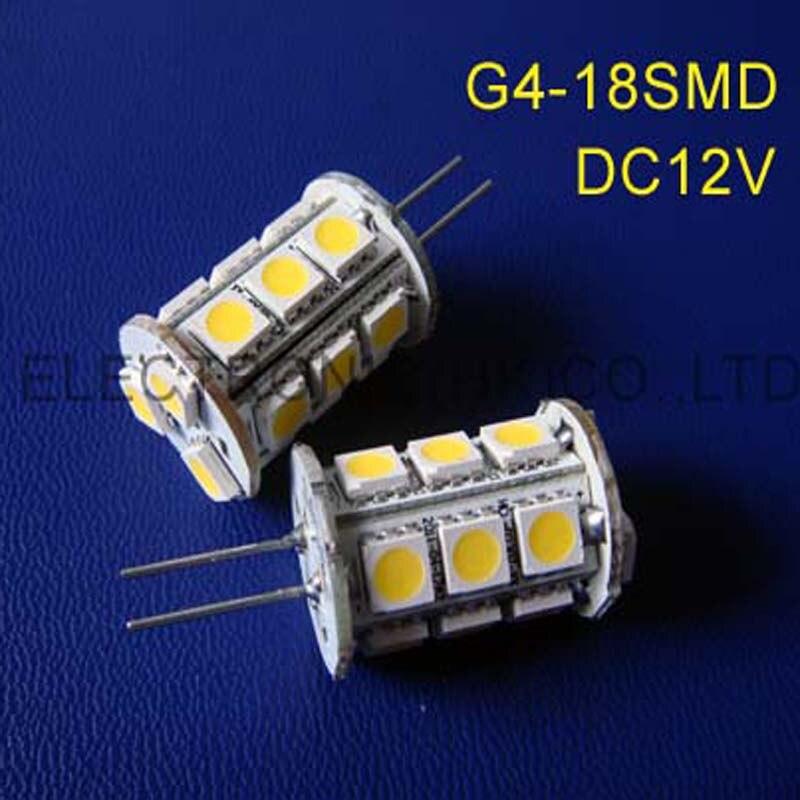 Высокое качество g4 свет, 18smd 5050 G4 светодиодные лампы DC12V G4 лампы( 2 шт./лот