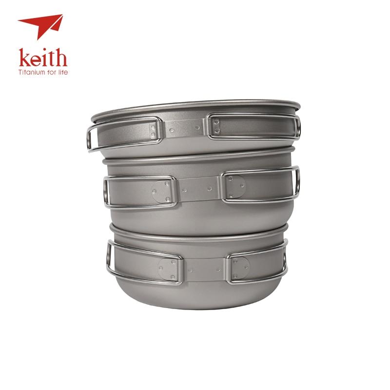 keith 3 pcs titanium panelas conjunto tigelas 01