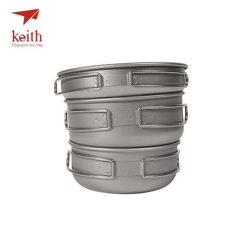keith 3 pcs titanium panelas conjunto tigelas