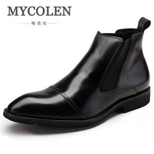 MYCOLEN Chelsea Boots Shoes Winter Comfortable Male Autum Moto Retro Ankle Bottes Handsome