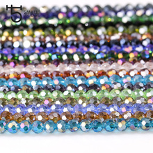 4mm Czech Glass Beads Bulk Faceted Round Football Crystal Black Beads for Jewelry Making DIY Components Wholesale Z155
