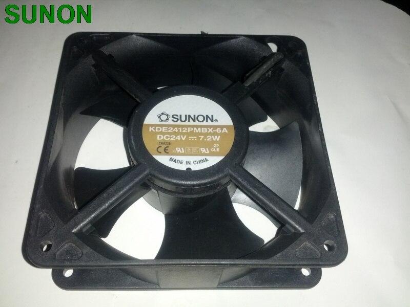 SUNON KDE2412PMBX-6A  DC24V 7.2W Server Square Fan 2-wire 120x120x38mm cenmax vigilant v 6 a