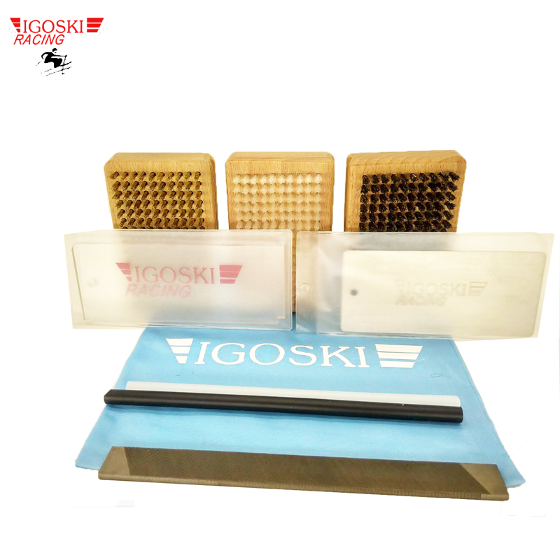 SKI AND SNOWBOARD WAX TOOL FOR NYLON HORSE HAIR BRASS P-TEX SCRAPER FILE SET PROTECTION ALL TOGETHER CLEANING
