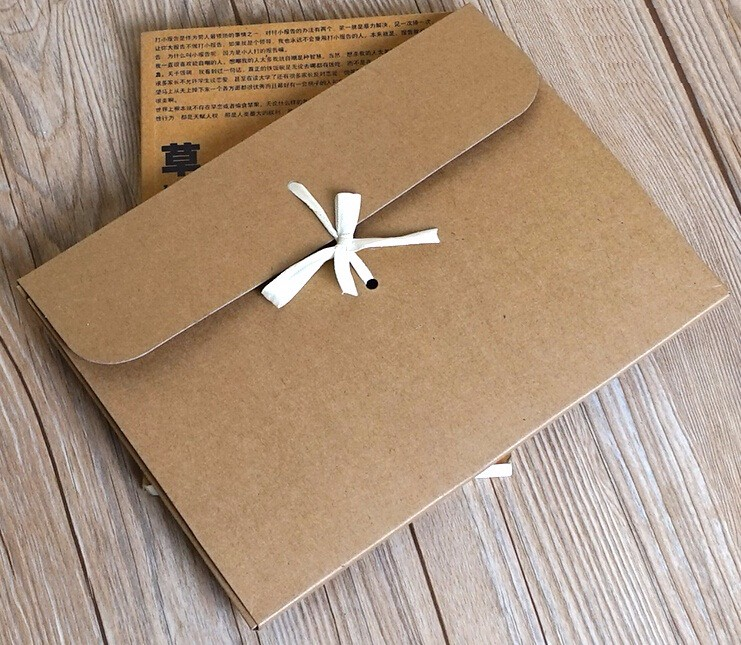1-18 Joy, 24*18*0.7cm large flat kraft envelope packaging case, kraft paper box gift for scarf