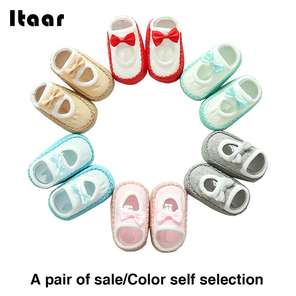 Kids Socks Girls Clothing Room Socks Bowknot Mother Baby Room Shoes Cute Leggings Socks