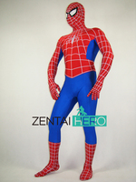 Free Shipping DHL Amazing Spider Man Costume Classic Movie Halloween Spandex Spiderman Superhero Costume fullbody zentai suit