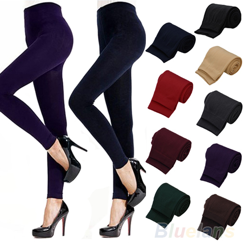 Fitness High Street Lady Womens Winter Warm Skinny Slim Stretch Thick Footless Leggings 98C8