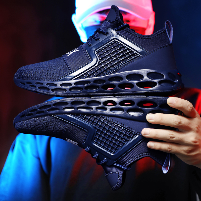2019 Hot Sell Men's Running Shoes Professional Outdoor Breathable Comfortable Fitness Absorption Trainer Sport Gym Sneaker