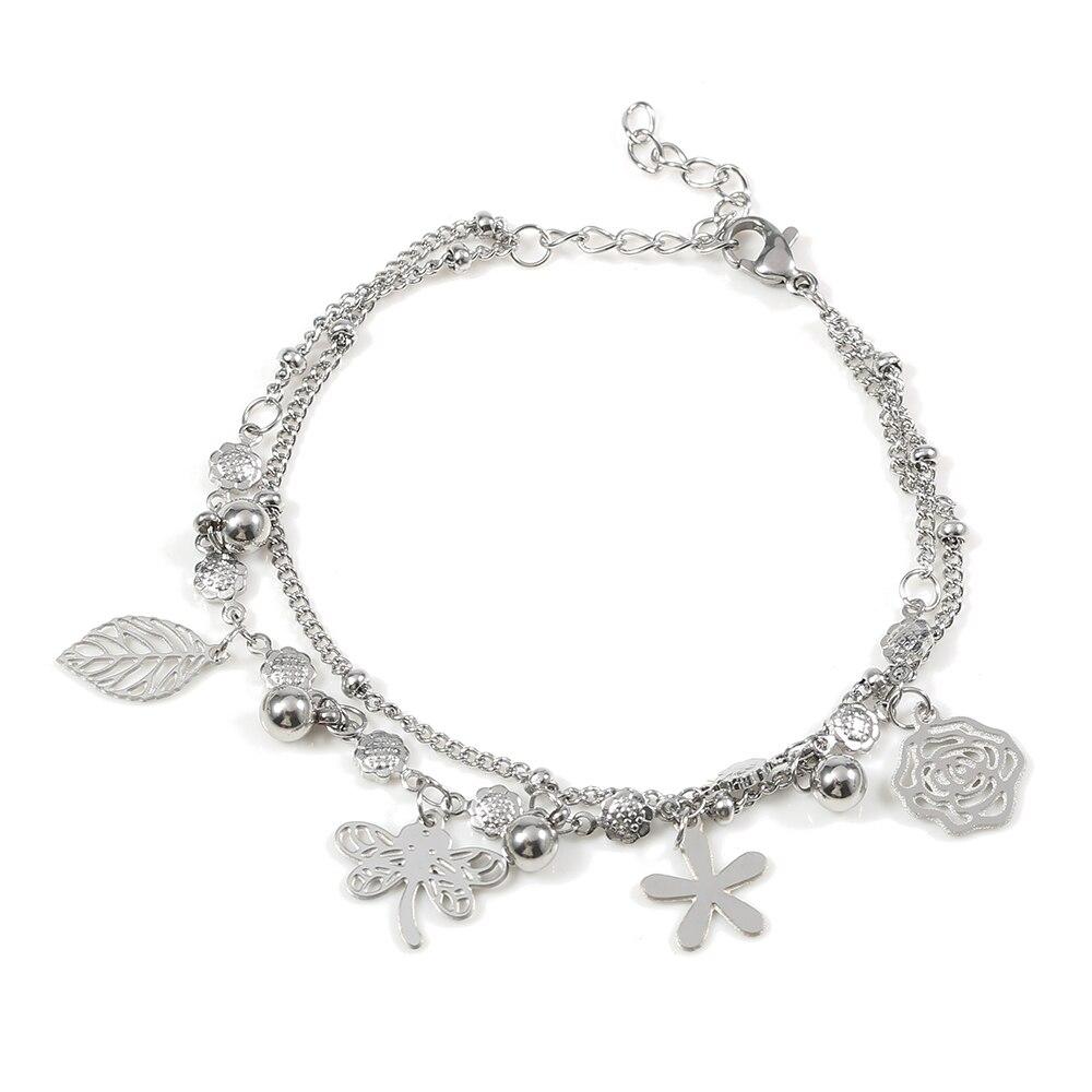 TL Bracelet Bijoux Papillon Courir Fleur Bracelet Femmes Bracelets Bracelet Bracelet Mariée De Mariage Bracelet Ensemble