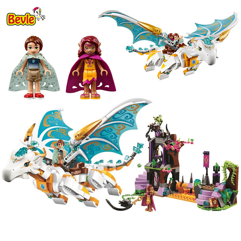 Bevle 10550 Bela Queen Dragon's Rescue Kid Toys Model Building Kits Block Bricks Compatible With LEPIN 41179 lepin 22001 pirate ship imperial warships model building block briks toys gift 1717pcs compatible legoed 10210