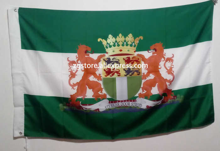Holland the Netherlands Rotterdam City Coat of Arms Flag hot sell goods 3X5FT 150X90CM Custome Banner brass metal holes