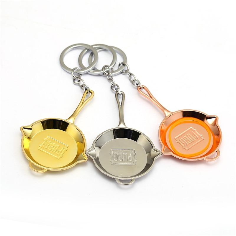 HSIC 10pcs/lot Wholesale Playerunknowns Battlegrounds PUBG Pans Pendant Keychain PUBG Key Chain Men Jewelry 9.5x6.0cm HC12635